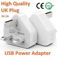carregador de parede plugue para ipad venda por atacado-Alta Qualidade Britânico UK Plug 5V1A Adaptador de Energia USB Carregador de Parede de Telefone Celular RoHS CE Aprovado Para iPhone X 8 ipad ipod