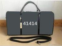 Wholesale Men Leather Duffle - 2016 new fashion men women leather travel bag duffle bag, brand designer luggage handbags large capacity sport bag 54CM