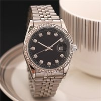 Wholesale 38mm watch dial - relogio masculino mens watches Luxury dress designer fashion Black Dial Calendar gold Bracelet Folding Clasp Master Male 38mm gifts couples