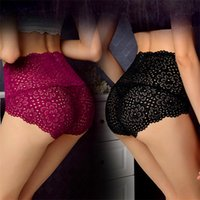 Wholesale High Waist Bamboo - Sexy lace ladies' underwear bamboo fiber women's briefs lingeries high waist underwear women panties solid cute briefs pantie breathable