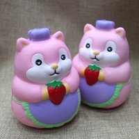 Wholesale cute hamsters online - Cute Chef Hamster Squishy Kawaii Simulation Squishies Slow Rising Safe Hand Squeezed Soft Toys Eco Friendly Top Quality fd YB