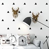 einfache schwarze weiße tapete großhandel-Nordic Style Wallpaper moderne einfache Geometrie schwarz und weiß e Tapeten Wohnzimmer Schlafzimmer TV Hintergrund Wand Dekor