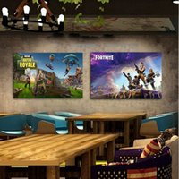 Wholesale pictures movie posters - 13 colors Fortnite silk poster Fortnite Battle Royale Game Poster Wall Painting Posters Prints on silk Art Wall Pictures 50PCS MMA255