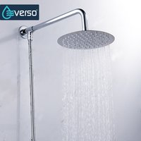 Wholesale Stainless Steel Waterfall Shower - Everso 12 10 8 6 4 inch Stainless Steel Ultra-thin Waterfall Shower heads Rainfall Shower Head Rain Square Round