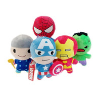Wholesale plush spiderman online - Captain America Stuffed Animals Doll The Avengers Superman Spiderman Plush Toys Classic Marvel Heros Action Figure Kids Gifts bg YY