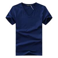 das v-shirt der männer großhandel-2018 sommer designer t-shirts für männer tops t-shirt mens clothing kurzarm t-shirt männer teens v-ausschnitt tops plus größe s-5xl