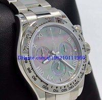 Wholesale roman dress styles resale online - Christmas Gift mens watches color dial K White Gold band MOP Roman Dial mm Mechanical Automatic Dress Styles