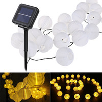 Wholesale solar led globe lights outdoor for sale - Group buy Lantern Ball Solar String Lights LED Solar Lamp Outdoor Lighting Fairy Globe Christmas Decorative Light for Party Holiday