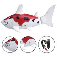 Wholesale Fish Boat Rc - Good Quality Children Mini RC Shark Fish Coke Can Radio Control RC Mini Electronic Shark Fish Boat Baby Kids Toy Gift 3 colors DHL Free