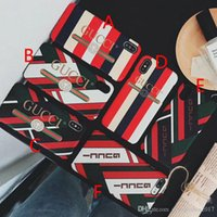 Wholesale stripe iphone hard case for sale - Luxury Brand New Stripe Letter Phone Cover Case for iphone X plus plus plus hard back cover