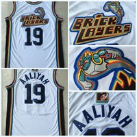 Wholesale quick rock - Men s Aaliyah Bricklayers MTV Rock N Jock Jersey Movie Throwback Basketball Jersey Fashion All Stitched High Quality
