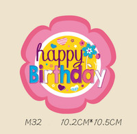 Wholesale birthday shirt women - Birthday Stickers T-shirts And Hoodies Funny DIY Stickers Men Women Couples Love Patches Iron-on Transfers Patches For Clothes