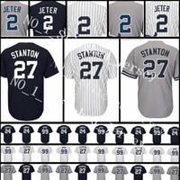Wholesale Cheap Army Jersey - Men's 27 Giancarlo Stanton 99 Aaron Judge Jersey Cheap sales 23 Don Mattingly 42 Mariano Rivera stitched Baseball Jerseys