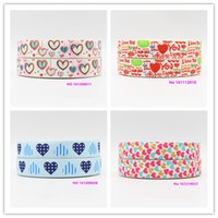 Wholesale printed webbing wholesale - ribbon 22mm 161021007 cartoon printed grosgrain ribbon webbing 50yards roll for hair tie free shipping can custom 16mm 25mm 38mm 50mm 75mm