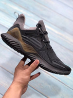 Wholesale alpha leather - 2018 Mens Shoes Kolor Alphabounce Beyond 330 Boost Running Shoes Alpha bounce Hpc Ams 3M Sports Trainer Sneakers Man Shoes Size 7-11