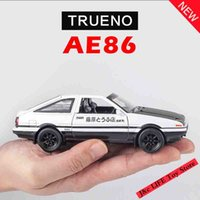 Wholesale miniatures for model - 1:28 Toy Car INITIAL D AE86 Metal Toy Alloy Car Diecasts & Vehicles Model Miniature Scale Model Toys For Children