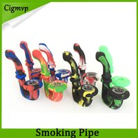 Wholesale bong shape online - U Shaped Portable Hookah Silicone Pipe Dry Herb Unbreakable Water Percolator Bong cm VS twisty glass blunt