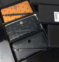 Wholesale long male wallets resale online - Male leather wallet south Korean top fashion high quality hand zipper wallet