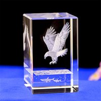 cartoon ben Australia - Crystal Glass Cube eagle model Model Paperweight 3D Laser Engraved Tower Bridge Eye Big Ben Figurines Feng Shui Souvenirs Crafts