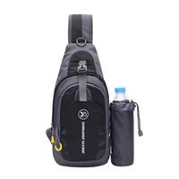 таблетка оптовых-Слинг сумка груди плеча рюкзак Crossbody сумки с держателем бутылки для iPad таблетки открытый кемпинг туризм