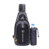 sling de tabuleiro venda por atacado-Sling bag no peito ombro mochila crossbody bags com suporte de garrafa para ipad tablet acampamento ao ar livre caminhadas