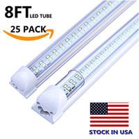 tubo led integrado de 8 pies al por mayor-T8 integró la línea doble llevó el tubo 4ft 28w 8ft 72w SMD2835 llevó el bulbo de lámpara de luz 96 '' fila doble llevó el reemplazo fluorescente de la iluminación