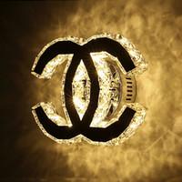 ingrosso bagno ha portato luci di vanità-Applique da parete moderna cristallo 12W LED Applique da parete per la casa Illuminazione interna bagno vanità parete lampada luminaria