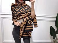 écharpes longues pashmina pour l'hiver achat en gros de-2019 femmes écharpe marque F lettre de luxe Designer hiver Cachemire Châle Long doux doux écharpes en laine chaude Wrap cadeau 180 * 65 cm
