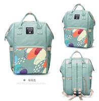 Wholesale polka dot diaper bags - Multifunctional Mommy Backpacks Nappies Bags Diaper Bags Backpack Maternity Large Capacity Outdoor Travel Bags BG02 3 PCS