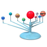 Wholesale planets toys for sale - Astronomy Science Education Nine Planets Model Toys Intelligence Assembling Solar System Planetarium Children DIY Toy Suit yy W