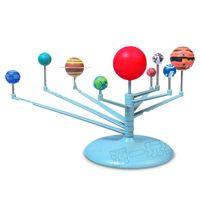 Wholesale solar models - Astronomy Science Education Nine Planets Model Toys Intelligence Assembling Solar System Planetarium Children DIY Toy Suit 8 8yy W