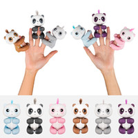 Wholesale interactive pet toys for kids - Finger Baby panda Interactive Smart Pet Induction Toys for kids Christmas gift