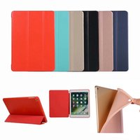 Wholesale ipad smart case stand online - Magnetic Slim Leather Smart Case Flip Folding Folio Stand Cover Shockproof TPU Cases For iPad Pro Mini Air