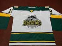 camisa verde de john venda por atacado-Homens frete grátis raros # 18 Humboldt Broncos branco HOCKEY JERSEY TAMANHO s-4XL ou personalizado qualquer nome ou número retro Jersey