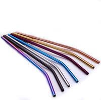 types de boissons achat en gros de-Outil à boire coloré de coupe de paille réutilisable de paille à boire de l'acier inoxydable 304