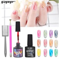 Wholesale YAYOGE Crystal Cat Eye poly Gel ml UV Nail Gel Polish Varnish with Magnet LED Long Lasting Lacquer Soak off Manicure Elegant
