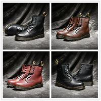 ingrosso scarponi da scarpe-2018 di alta qualità UK Classic 1460 stivali da esterno caviglia inverno stivali da neve nero marrone vino rosso donna moda maschile scarpe di design taglia 35-44