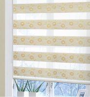 kaliteli dokuma toptan satış-Ücretsiz Kargo Jakarlı Dokuma Polyester Elyaf Zebra Jaluzi Çift Katmanlı Panjur yemek odası için kaliteli