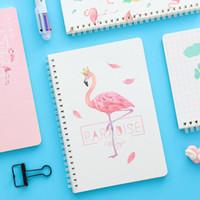 taschenbücher verkauf großhandel-1 Stücke Heißer Verkauf Kawaii Japan Cartoon Niedlichen Flamingo Spule Notebook Tagebuch Agenda Taschenbuch Büro Schulbedarf