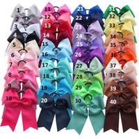 Wholesale Led Hair Bows - 8 inch Cheer Bow WITH Elalstic bands Loop Cheer leading bow Ponytail Hair Holder Large hair bow For Teen Girl Women.15pcs