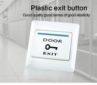 fechadura da porta de botão venda por atacado-Interruptor da porta da saída da liberação da porta do impulso para o sistema eletrônico do fechamento de porta do controle de acesso elétrico branco