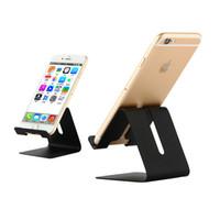 tischplatten-tischständer großhandel-Aluminium-Metall-Telefonhalter faul Schreibtischhalterung Universal-Desktop-rutschfeste Handy-Halter Wiederaufladbare Ständer für iPhone IPad Samsung Tablet