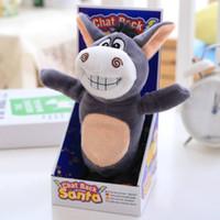 jouets en peluche d'âne achat en gros de-Âne jouet en peluche animal jouet apprendre à parler marcher chanter drôle stupide mignon court en peluche unique