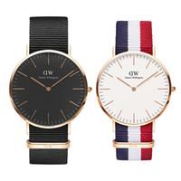 relojes unisex montre al por mayor-Relojes de pulsera Mujer Luxury Daniel Watch Hombres Damas Unisex 36 40mm Oro Relojes Hombre Vestido de mujer Reloj de cuarzo Montre de luxe