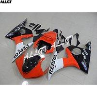 ingrosso yamaha r6 arancione nero-Kit di carene per motociclette Orange Black Repsol per Yamaha YZF R6 2003 2004 YZF 600 R6 03 04 Parti per carrozzeria