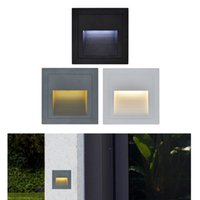 Wholesale waterproof step lights resale online - 3W led Stair Light with Embedded box Aluminum Step Lights Outdoor Waterproof IP65 LED Wall Lamp Footlight
