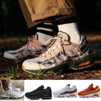 Wholesale shoe air camo - 2018 New Arrival 95 Se Camo Mesh Breathable Running Shoes Men Women Sport Shoes Air Cushion Sneakers athletics