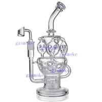 ingrosso forme di quarzo-Recycler Glass Bong Tubi per acqua 11