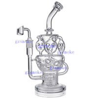 Wholesale bong shape for sale - Recycler Glass Bong Water pipes quot Tall Fab Egg Shape oil rig Dab Rigs mm female Joint bongs pipe Perc with Quartz Banger bowl babber