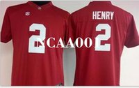Wholesale derrick henry alabama jersey resale online - Men Derrick Henry Alabama Crimson Tide red black white College Jersey or custom any name or number jersey